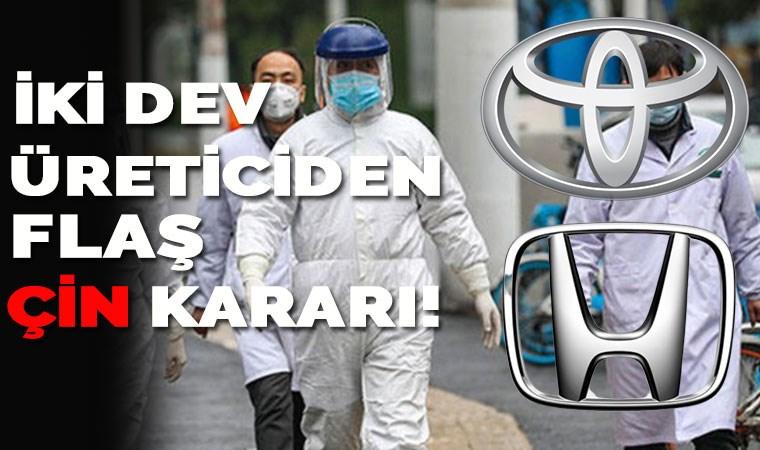 İki dev üreticiden flaş Çin kararı!