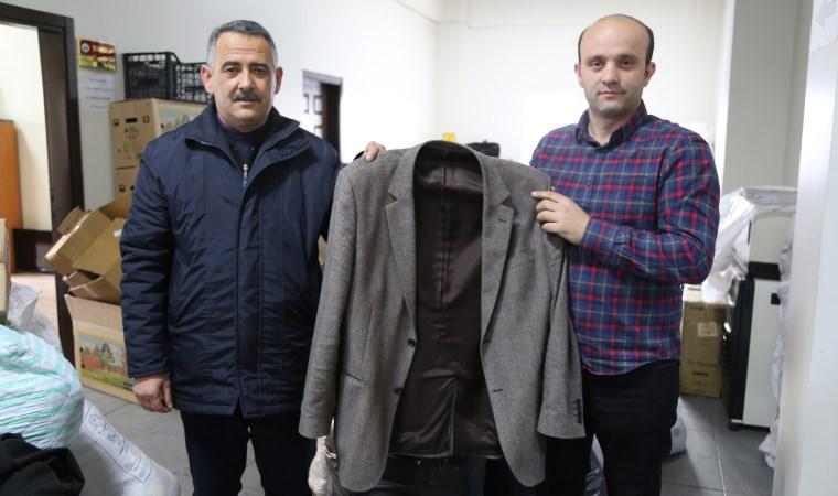 Yardım için gönderilen ceketten 10 bin lira çıktı
