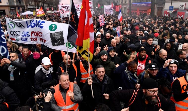 Fransa'da grevler  36'ıncı gününe girdi