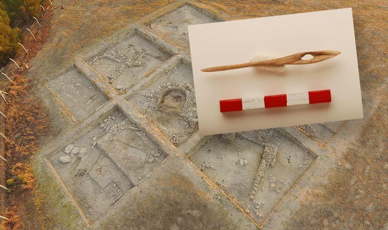 Ekşi Höyük kazı çalışmalarında 8 bin 600 yıllık kemikten iğne bulundu