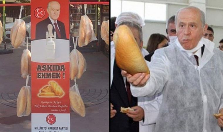 MHP'den Bahçeli'nin 'askıda ekmek' kampanyasını eleştirenlere tepki