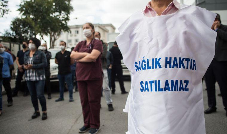 'Müteahhitlerin vergi borçları siliniyor ama biz sağlık emekçilerinin üç kuruş parası ödenmiyor'