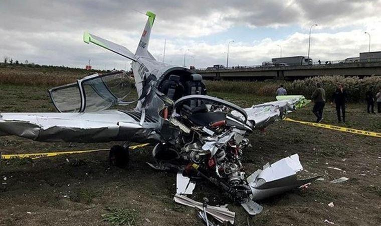 Büyükçekmece'de düşen eğitim uçağının pilotu yaşamını yitirdi