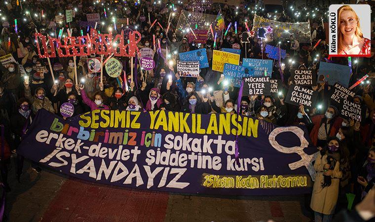 Kadınlar şiddete karşı İstanbul'dan seslendi: 'Bizim isyanımızı duyacaksınız'