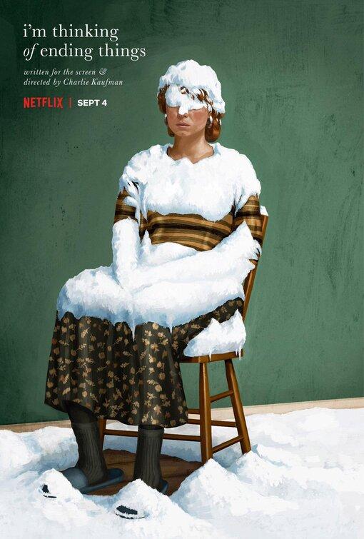 """<p>""""I'm Thinking of Ending Things"""" - Charlie Kaufman</p><p>Iain Reid'in aynı adlı psikolojik gerilim türündeki romanından ('Her Şeyi Bitirmeyi Düşünüyorum' adıyla Türkçeye de çevrildi) uyarlanan filmde Toni Collette, Jesse Plemons, Jessie Buckley, David Thewlis gibi oyuncular rol alıyor.</p><p>4 Eylül'de Netflix'te izleyiciyle buluşan film aile ziyaretine giden genç bir çiftin yaşadıkları ilginç olayları anlatıyor.</p>"""