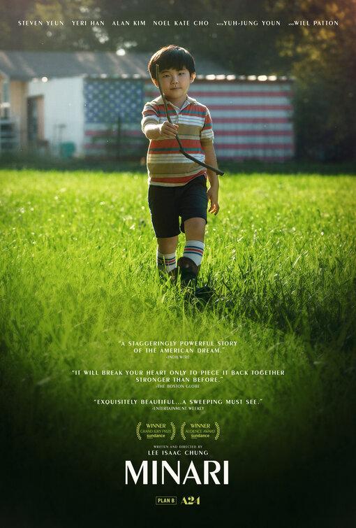 """<p>""""Minari"""" - Lee Isaac Chung</p><p>Başrolünde """"The Walking Dead"""" dizisindeki Glenn Rhee rolüyle hafızalara kazınan ve """"Burning""""deki rolüyle dikkat çeken Steven Yeun'un yer aldığı film, 2020 Sundance Film Festivali'nde hem Jüri Büyük Ödülü'nü hem de Seyirci Ödülü'nü kazandı.</p><p>Lee Isaac Chung imzalı """"Minari"""", 80'li yıllarda çiftçilik yapmak için Los Angeles'tan Arkansas'a taşınan Koreli bir ailenin hikâyesini anlatıyor.</p>"""