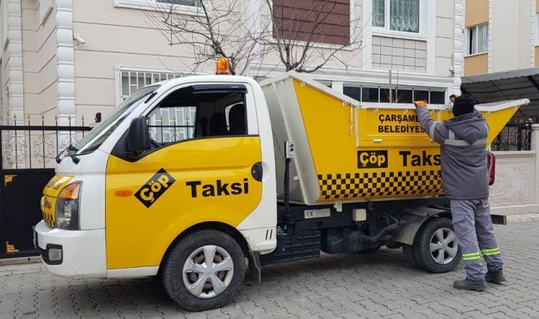 Çarşamba'da 'Çöp Taksi' uygulaması başladı