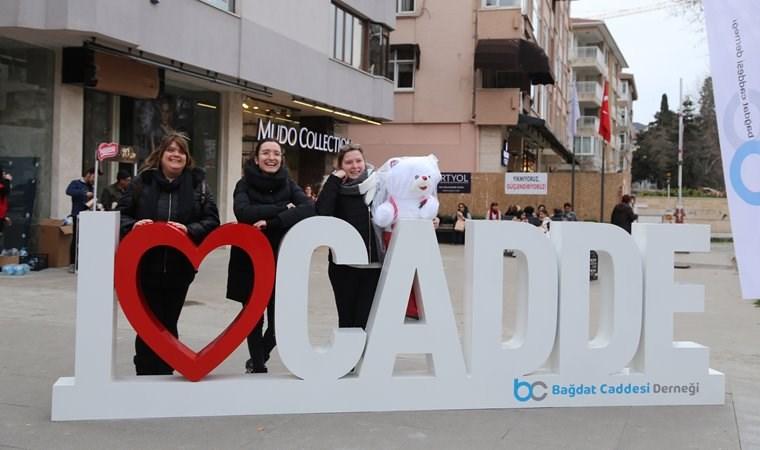 Sevgililer Günü'nde Bağdat Caddesi rüzgarı