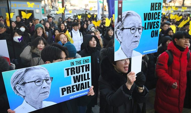 Koreli kadın adalet istiyor