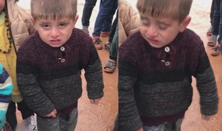 Bu görüntü herkesin yüreğini burkmuştu! O çocuğa yardım eli uzandı