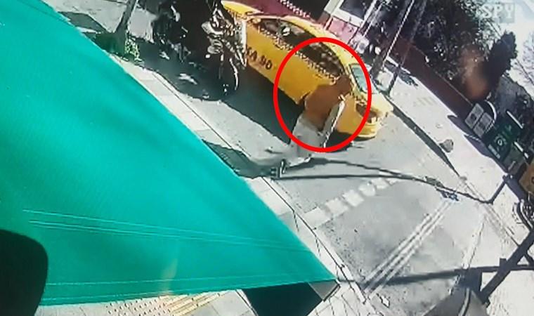 Ters yönden gelen motosikletli, kadına çarptı