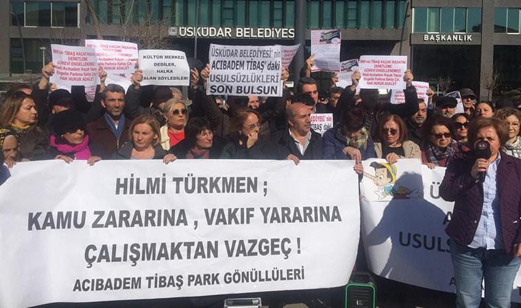 İnşaat protestosu Üsküdar Belediyesi'ne taşındı