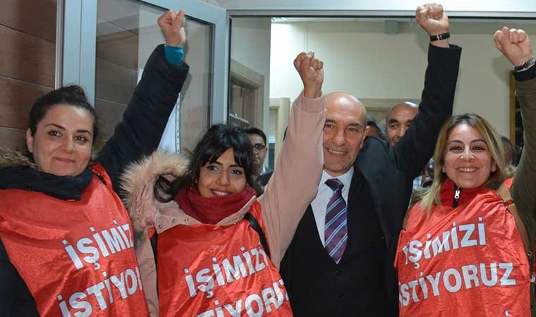 AKP'li Bergama Belediyesi'nin işten çıkardığı işçilere Soyer'den destek