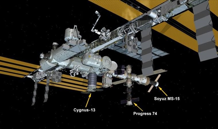'Cyngus' Uluslararası Uzay İstasyonu'na ulaştı