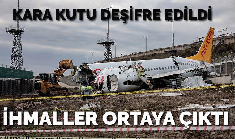 Pistten çıkan uçağın kara kutuları deşifre edildi