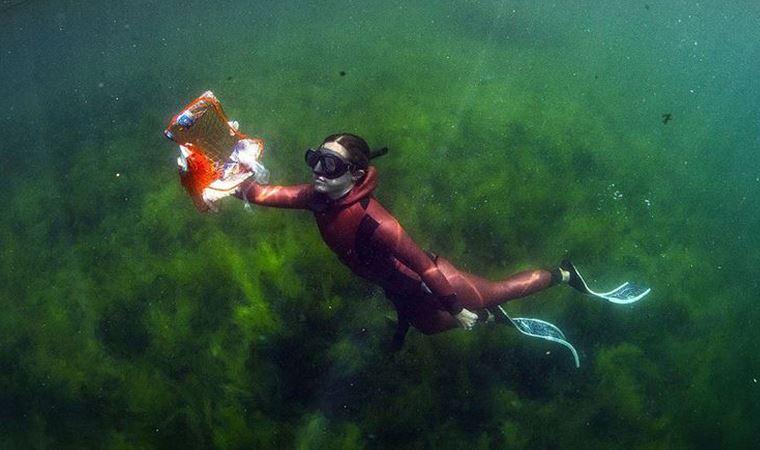 180 bin metreküp deniz çöpü toplandı