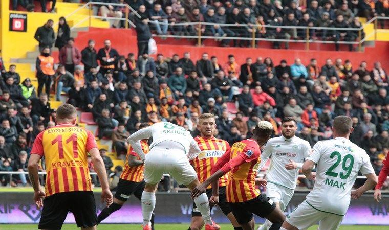 Konyaspor kaçtı, Kayserispor yakaladı