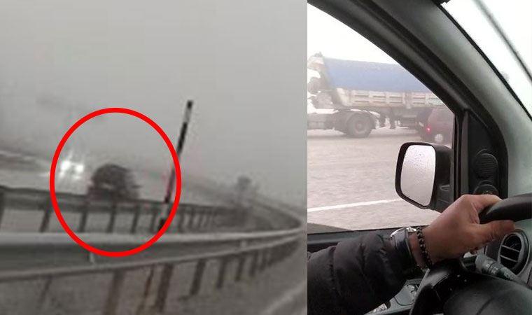 Trafikte dehşete düşüren görüntüler!