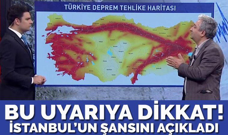 Deprem uzmanından İstanbul için sevindirici haber