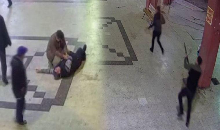 Otogardaki silahlı çatışma kamerada