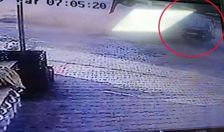 E-5 'te makas kazası kamerada