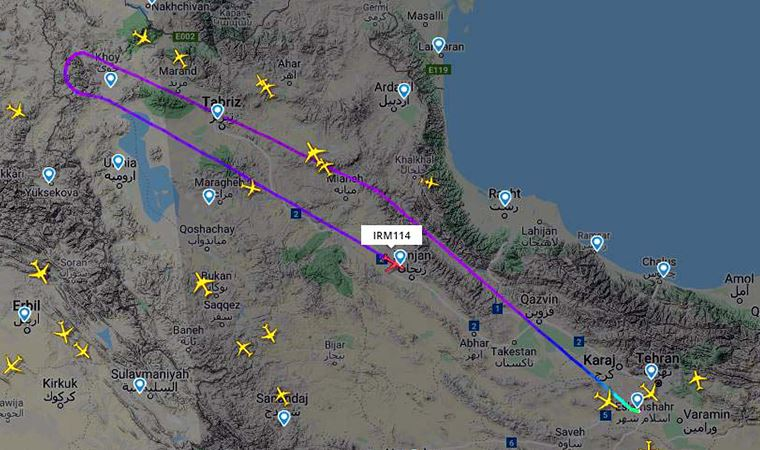 Tüm İran uçuşları iptal edildi