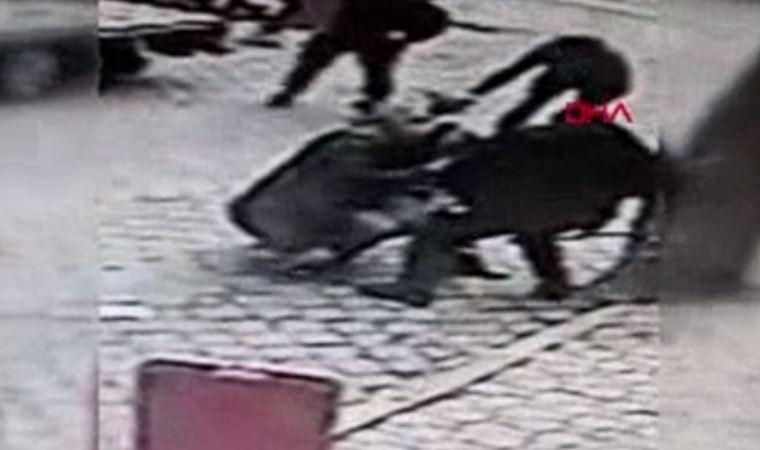 2 pitbullun saldırdığı köpeği 3 yurttaş kurtardı!