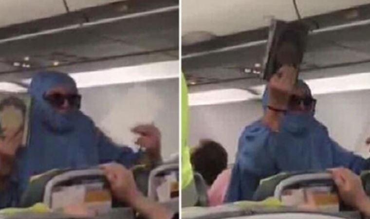 Uçakta olay çıkarmıştı, tahliye edildi