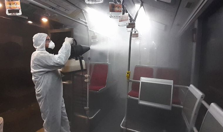 Metrobüs ve duraklarda 'koronavirüs önlemi