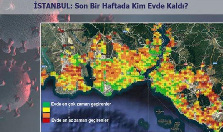 'Evde Kal' çağrısına İstanbul'un en çok hangi semtleri katıldı?