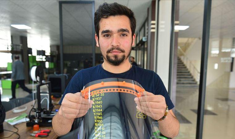 Sağlık çalışanlarına 3D yazıcılarla siperlik üretimi