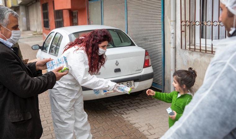 Okul sütleri koronavirüs sürecinde ev sütü oldu