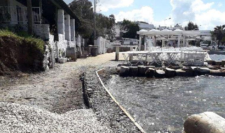 Bodrum'da 3 bin yıllık antik kentin kıyısında kaçak inşaata mühür