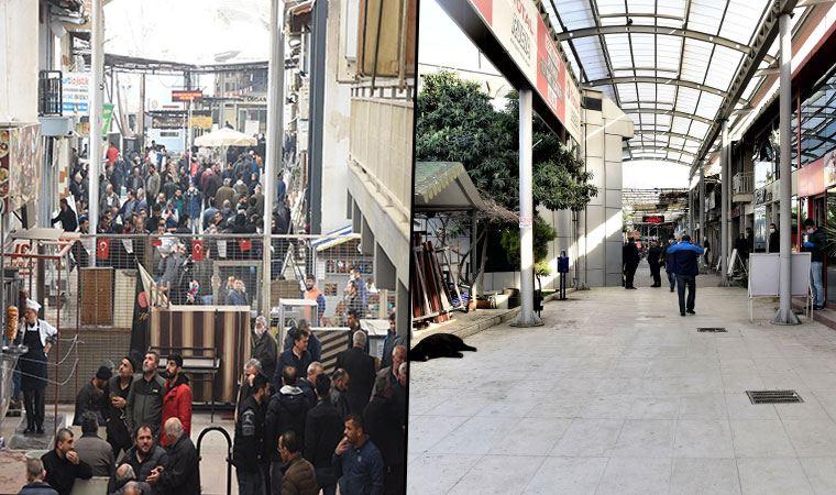 İzmir'de nakliyeciler sitesine girişler engellendi