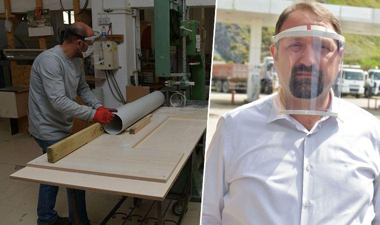 Mühendis başkan tasarladı: PVC borudan yüz siperliği