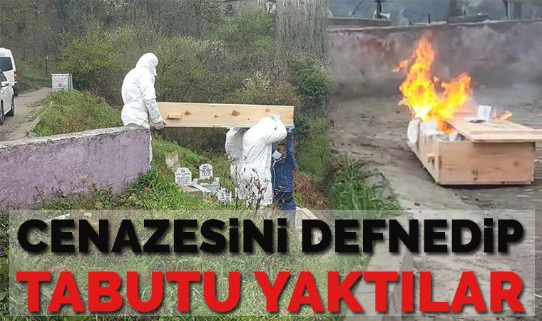 Cenaze namazını kılıp, tabutu yaktılar!