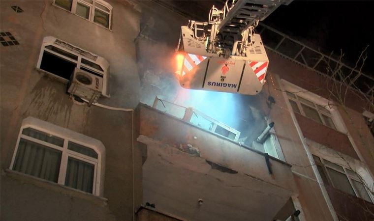 İstanbul'da bir binanın 6'ıncı katında patlama!