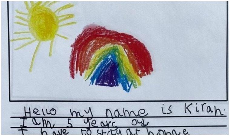 5 yaşındaki çocuktan 93 yaşındaki komşusuna mektup