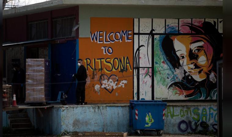 Yunanistan'dan gecikmeli müdahale: İlk defa bir göçmen kampı karantinaya alındı