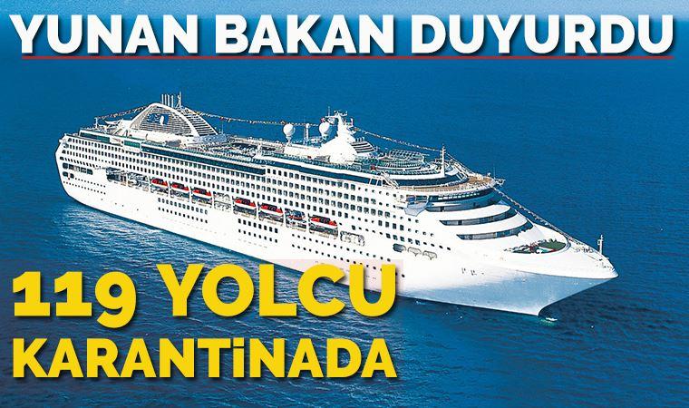 Yunan gemisindeki 119 yolcunun koronavirüs testi pozitif