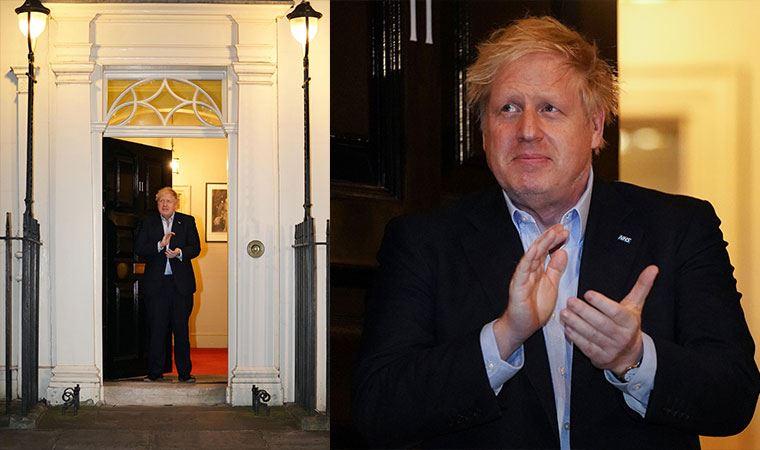 Karantina altında olan Boris Johson ilk kez görüntülendi