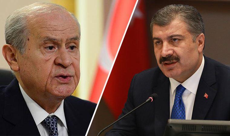 Bakan Koca, Bahçeli'nin önerisini canlı yayında reddetti