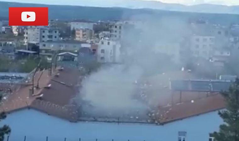 Cezavinden dumanlar yükseldi,