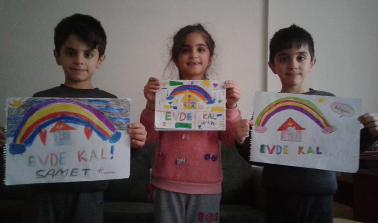 'Özel' çocuklar evlerinin penceresini umuda boyadı