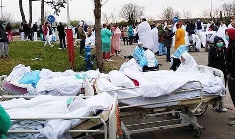 İtalya'da hastalar sokaklarda yatırıldı!