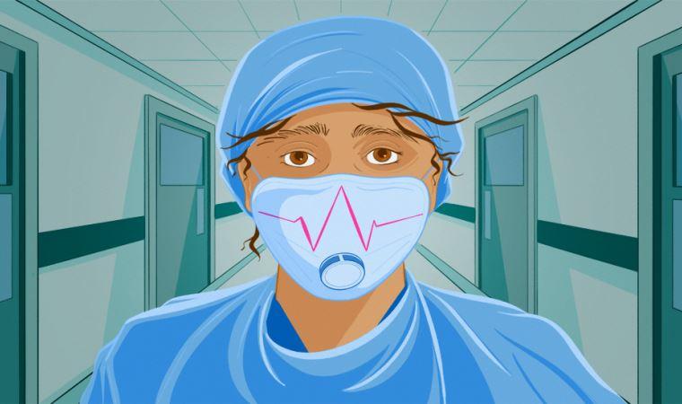 Çöp torbası giyerek korunmaya çalışan sağlıkçılar!