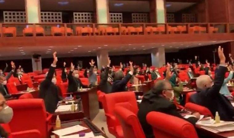 AKP ve MHP'nin oylarıyla reddedildi