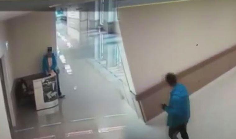 Hastanede skandal görüntüler! Kameraya böyle yakalandı