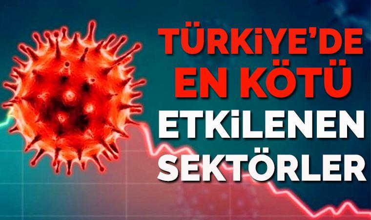 Türkiye'de koronavirüsten en kötü etkilenen sektörler