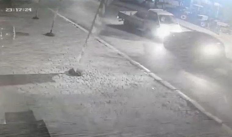 Alkollü sürücüler kafa kafaya böyle çarpıştı